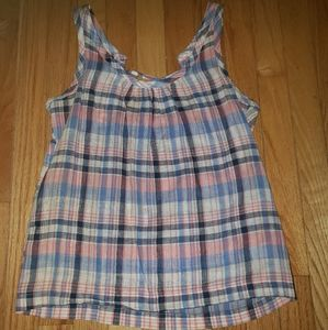 Old navy plaid tank top
